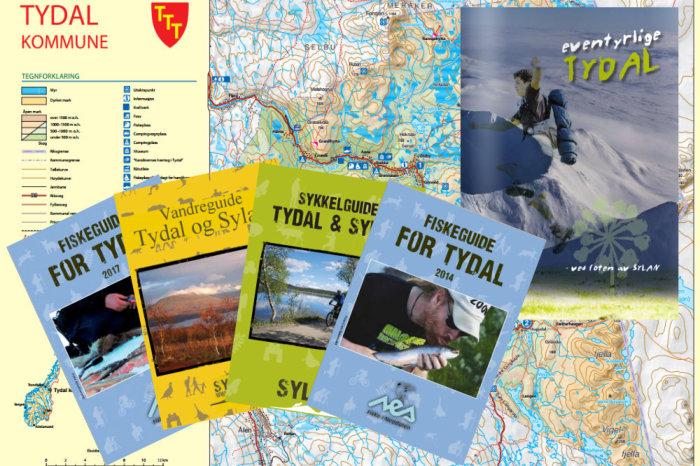 Til brosjyrer og kart i Tydal og Sylan.