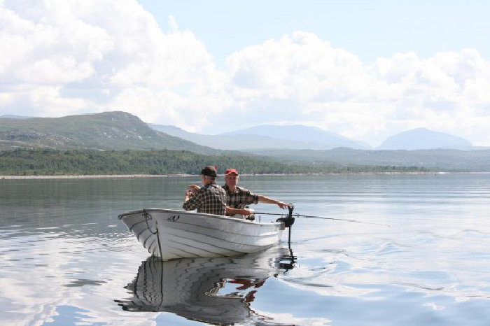 Åpner dialogboks med lenker og informasjon om båtutleie i Tydal og Sylan.