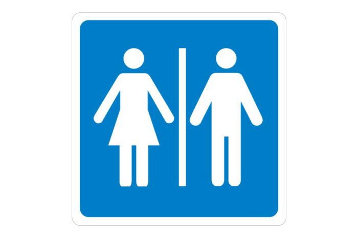 Symbol. Skilt for toalett.