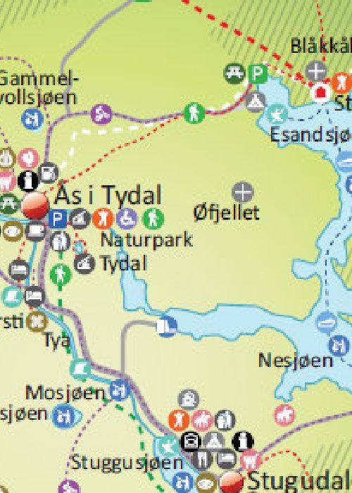 Kart over Tydal kommune