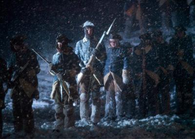Soldater i snøstorm
